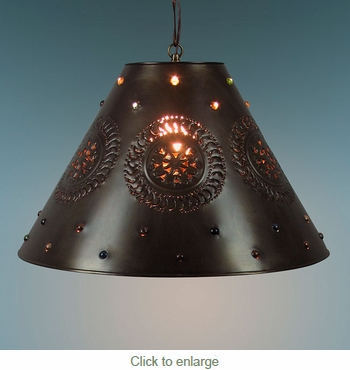 Large Punched Marble Shade Pendant Light