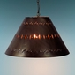 Large Punched Metal Hanging Light Lamp Shade