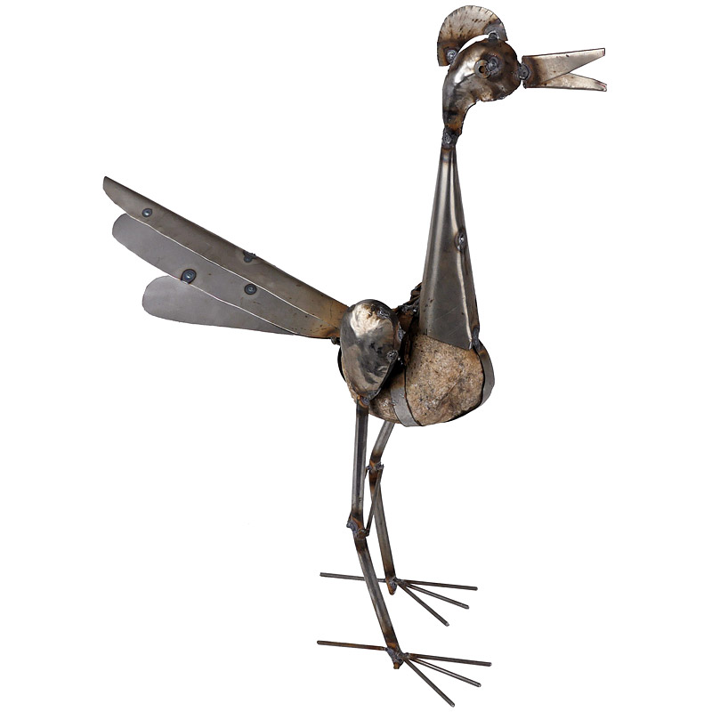 Large Rocking Roadrunner Metal Garden Art Sculpture