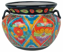 Large Rounded Talavera Pot