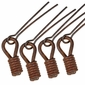 Small Rustic Iron Spiral Pulls - Pack of 4