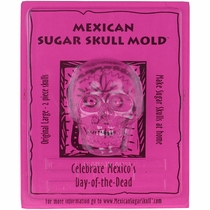 Large Sugar Skull Molds -  Front & Back - Set of 2