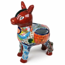 Large Talavera Burro Double Planter Pot