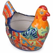 Large Talavera Chicken Pot