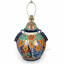 Large Talavera Ginger Jar Lamp Base