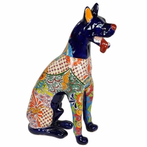 Large Talavera Great Dane Statue