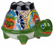 Large Talavera Turtle Flower Pot