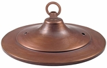 "Large Tin Ridged Ceiling Plate 6"" Dia."