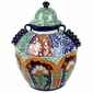 Large Traditional Talavera Ginger Jar