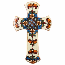 Large Truncated Talavera Wall Cross