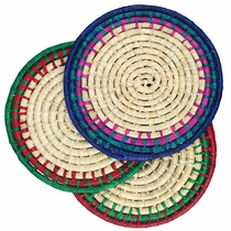 Large Woven Palm Hot Plate Holders - Set of 3