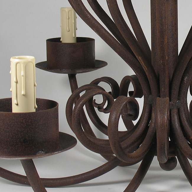 Large wrought iron chandelier 6 armed aloadofball Choice Image