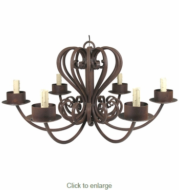 Wrought iron chandelier 6 armed large wrought iron chandelier 6 armed aloadofball Gallery