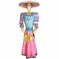 Life-Size Painted Metal Catrina Sculpture