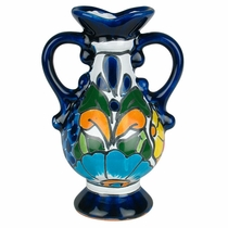 Loop Handle Talavera Vase