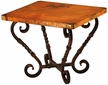 Margarita Iron Base End Table with Copper Top