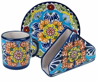 Margarita Pattern Group - Talavera Tableware  sc 1 st  Direct From Mexico & Mexican Talavera Dinnerware Pattern Groups