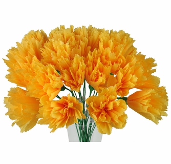 Marigold mexican paper flowers set of 12 mightylinksfo