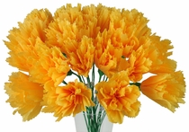 Marigold Mexican Paper Flowers - Set of 12