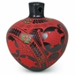 Mata Ortiz Black and Red Mimbres Style Vase