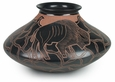 Short Mata Ortiz Blackened Buffalo Pot