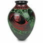 Mata Ortiz Native Movement Vase Red and Green