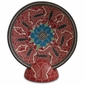 Mata Ortiz Pottery Butterfly Plate and Stand