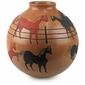 Mata Ortiz Pottery Red and Black Horse Vase
