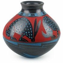 Mata Ortiz Southwest Jack Rabbit Pot