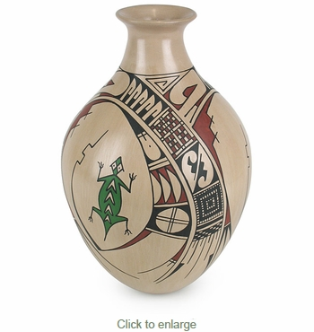 Mata Ortiz Vase with Southwest Design