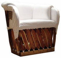 Mediterranean Lounge Chair - White
