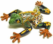 Medium and Large Talavera Wall Frogs