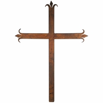 Medium Iron Fleur de Lis Cross