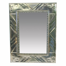 Medium Natural Tin Southwest Mirror