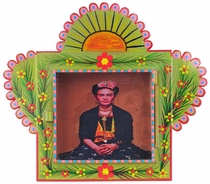 Medium Painted Tin Nicho with Frida Kahlo Print