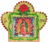 Medium Painted Tin Nicho with Our Lady of Guadalupe Print