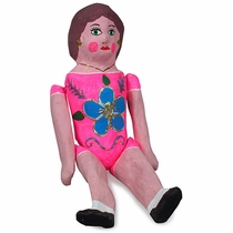 Medium Paper Mache Puta Doll
