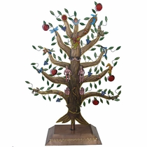 Medium Standing Painted Tin Tree of Life