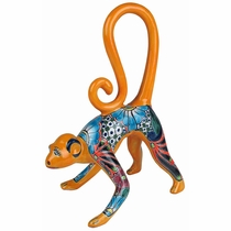 Medium Standing Talavera Monkey