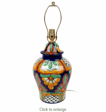 Medium Talavera Ginger Jar Lamp Base