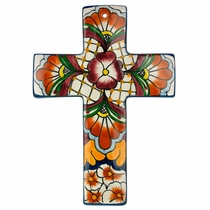 Medium Thick Talavera Cross