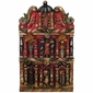 Medium Wooden Retablo with Hand Carved and Painted Religious Figures