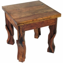 Mesquite Concave Leg End Table