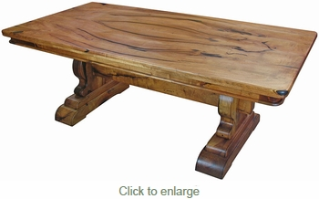 Mesquite Trestle Dining Table with Bookmatched Top