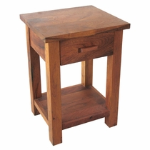 Mesquite Wood End Table or Nightstand