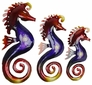 Metal Seahorses Wall Art - Set of Three