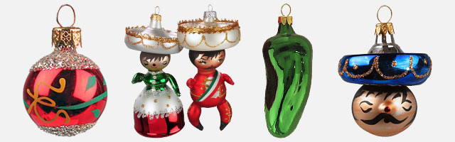 mexican blown glass christmas ornaments - Blown Glass Christmas Ornaments