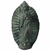 Mexican Bronze Virgin of Guadalupe Door Knocker