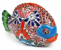 Mexican Ceramic Talavera Fish Statue