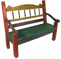 Mexican Country Bench - Spoked